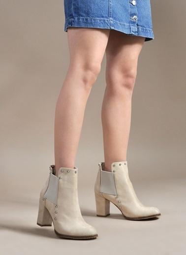 Vizon Ayakkabı Bot Bej